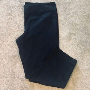 Plus Size 20 Pull on Black Cotton Pant